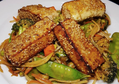 High Protein Chunky Tofu and Cashew Stir Fry